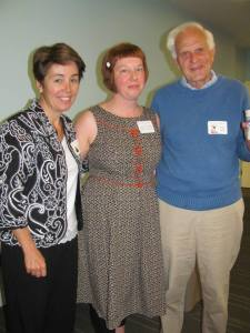 Frederick Lipp (right) with author Maria Padian (left) and Kirsten Cappy (center_