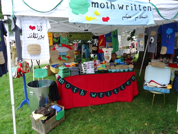 Visit moth written's booth at Sunday's Old Port Fest