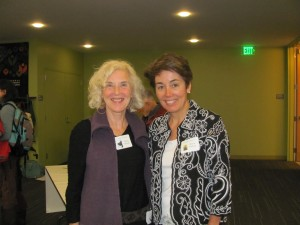 Terry with author Maria Padian (right) at the I'm Your Neighbor, Portland launch