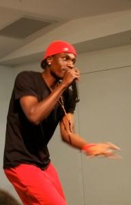 "Sudanese rapper OD Bonny performs from his album ""Kwo I Lobo Tek"""